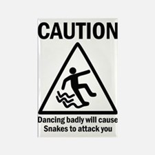 Dancing badly Rectangle Magnet