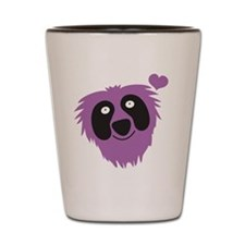Cute purple monster Shot Glass