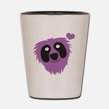 Cute purple monster Shot Glass