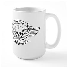 Live Free Ride Free Wings Skull Mugs