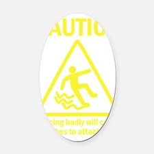 Dancing badly Oval Car Magnet