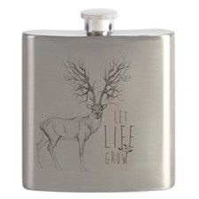 Let life Grow white Flask