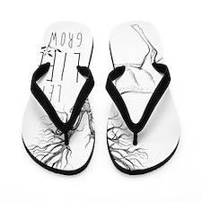 Let life Grow white Flip Flops