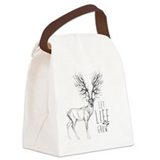 Let life Grow white Canvas Lunch Bag