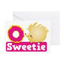 Sweetie little hedgehog Greeting Card