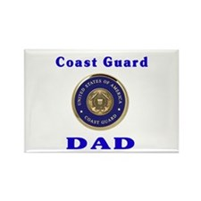 coast guard dad Rectangle Magnet