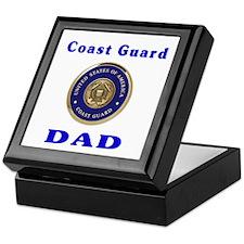 coast guard dad Keepsake Box