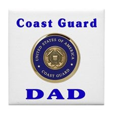 coast guard dad Tile Coaster