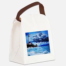 crashing waves Canvas Lunch Bag