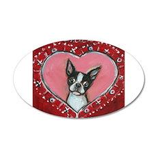 Boston Terrier Valentine xoxo Wall Decal