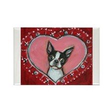 Boston Terrier Valentine xoxo Magnets