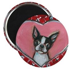 Boston Terrier Valentine xoxo Magnets