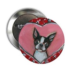 "Boston Terrier Valentine xoxo 2.25"" Button"