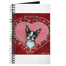 Boston Terrier Valentine xoxo Journal