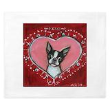 Valentine boston terrier Duvet Covers