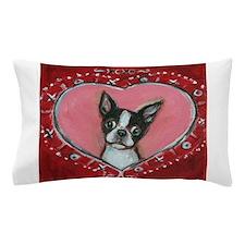 Boston Terrier Valentine xoxo Pillow Case