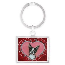 Boston Terrier Valentine xoxo Keychains