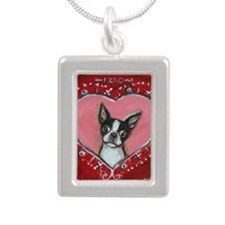 Boston Terrier Valentine xoxo Necklaces