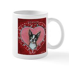 Boston Terrier Valentine xoxo Mugs