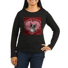 Boston Terrier Valentine xoxo Long Sleeve T-Shirt