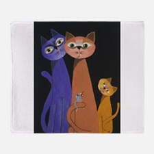 threes a crowd Throw Blanket