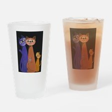 threes a crowd Drinking Glass
