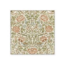 "William Morris Rose Pattern Square Sticker 3"" x 3"""