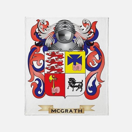 McGrath Coat of Arms - Family Crest Throw Blanket
