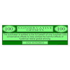 Conservative Offsets (100) Bumper Bumper Sticker