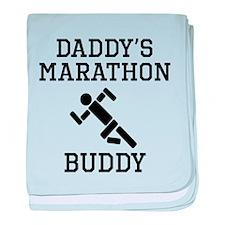 Daddys Marathon Buddy baby blanket