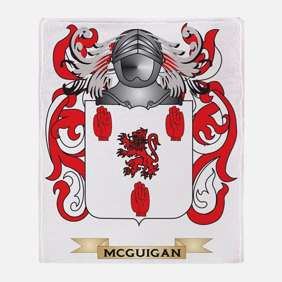 McGuigan Coat of Arms - Family Crest Throw Blanket