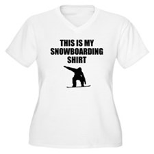 This Is My Snowboarding Shirt Plus Size T-Shirt
