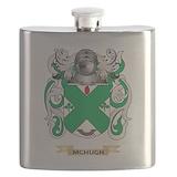 Mchugh family crest Flask Bottles