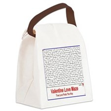 Valentine Love Maze Canvas Lunch Bag