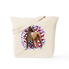 Boxer Patriotic Tote Bag