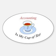 Accounting is my cup of tea Oval Decal