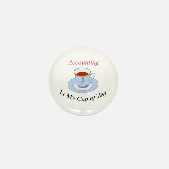 Accounting is my cup of tea Mini Button