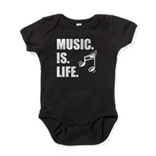 Music Is Life Baby Bodysuit