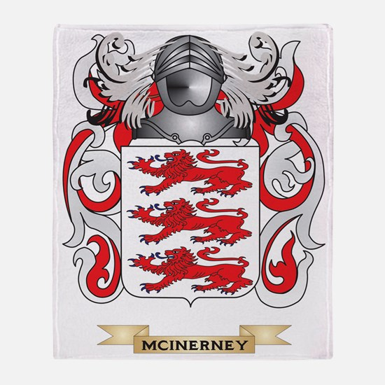 McInerney Coat of Arms - Family Cres Throw Blanket