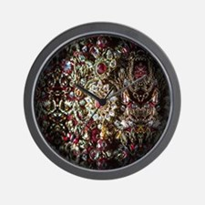 Indian Diamond and Ruby Wall Clock