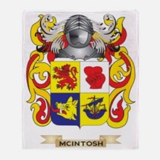 McIntosh Coat of Arms - Family Crest Throw Blanket