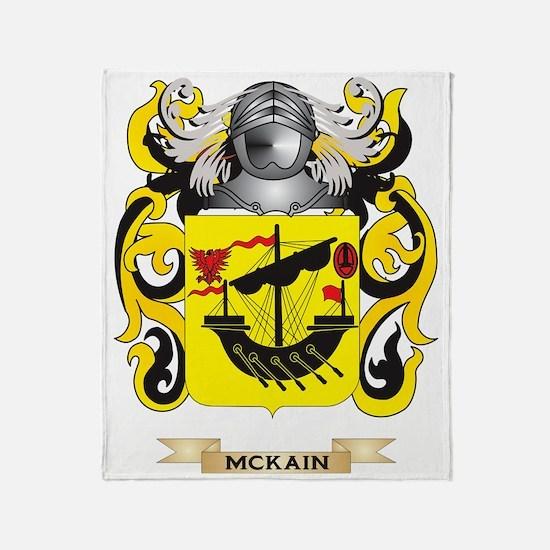 McKain Coat of Arms - Family Crest Throw Blanket