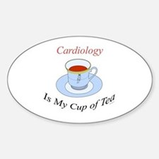 Cardiology is my cup of tea Oval Decal