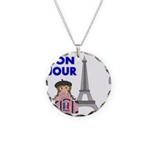 BON JOUR WITH LITTLE GIRL IN Necklace