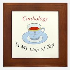Cardiology is my cup of tea Framed Tile