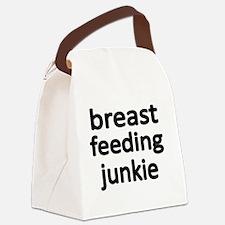 breast feening junkie Canvas Lunch Bag