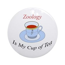 Zoology is my cup of tea Ornament (Round)