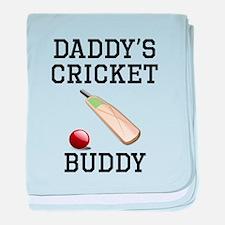 Daddys Cricket Buddy baby blanket