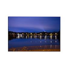 Lake at night Rectangle Magnet