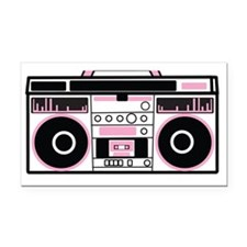 Simple vintage speakers boom  Rectangle Car Magnet